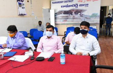 The Chief Secretary to the State Government Somesh Kumar Garu reviewed Dharani pending issues, setting up of special food processing zones and work on new collectorate buildings through video conference