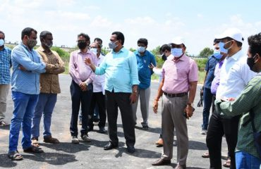 District Collector Dr. A.Sharath, IAS Garu along with Government Whip Gampa Govardhan Garu inspected the work being done on the new Collectorate building complex