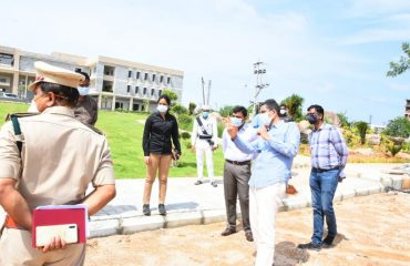 State Forest Department Chief Conservation Officer Ramesh and District Collector inspected the Plants Planted on the Premises of the New Collectorate Complex