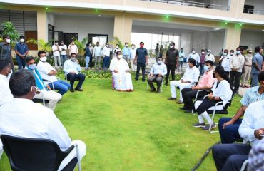 State Legislative Assembly Speaker Pocharam Srinivas Reddy Garu inspected the new Collectorate and SP building complexes in Kamareddy district center
