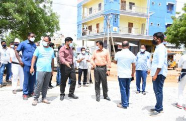 The District Collector Inspected the Roads and Drinages in the 18th ward