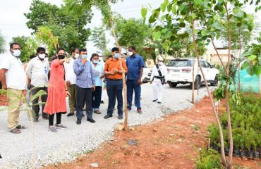 The District Collector visited the Urban Nature Park in the 15th ward of Kamareddy town.