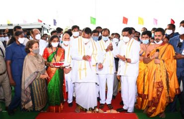 The Hon'ble State Chief Minister K.Chandrashekhar Rao Garu Inaugurated Integrated District Offices Complex Kamareddy