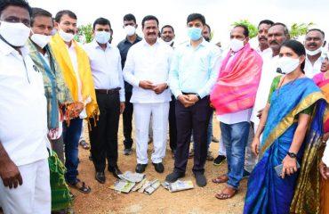 The District Collector Dr. A.Sharath, IAS Garu & Govt Whip Gampa Govardhan Garu inaugurated Gym in domakonda palle prakruthi vanam