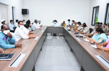 The Additional Collector in charge of the district reviewed the Bakrid festival at a peace committee meeting held at the Collectorate