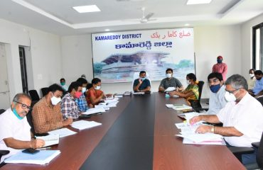 The District Collector spoke to officials in a video conference on agriculture, health and palle pragathi in the integrated district office complex