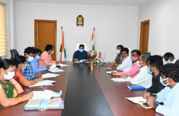 The District Collector Reviewed with the Authorities the Armory Arrangements for the Independence Day Celebrations to be held at the local Indira Gandhi Stadium on August 15.
