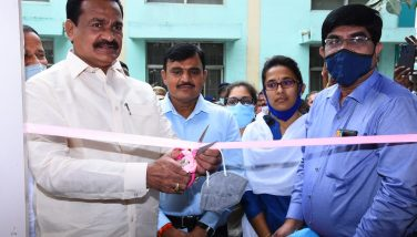 District Collector Dr.A.Sharath,IAS & Government Whip Gampa Govardhan Garu inaugurated The RTPCR Lab at District Area Hospital.