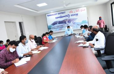 The District Collector Dr. A.Sharath, IAS directed the officials to complete the planting program as part of the haritha haram