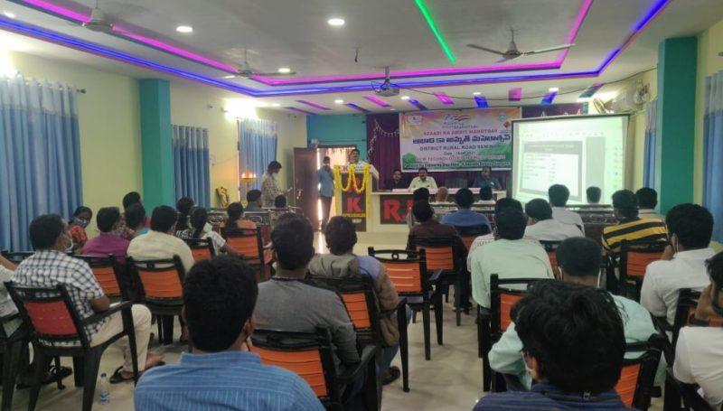 Azadhi ka amrith mahosthav sandharbanga nirvahinchina Zilla gramina rural rahadhari seminar varosthavalu