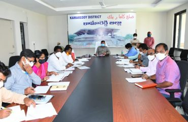 The District Collector reviewed the bank linkage loans, stree nidhi, mepma loans, crop loans, crop registration and rythu bheema targets by mandal wise through video conference with authorities