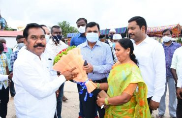 Government whip and Kamareddy legislator Gampa Govardhan Garu Worshiped the land for building an integrated market.