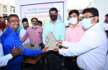 District Collector Distributed Clay Ganapathi idols free of cost at collctorate.