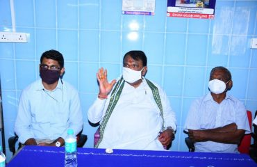 The State Assembly Speaker Pocharam Srinivas Reddy Garu inaugurated a 10-bed ICU center at the Banswada Government Hospital
