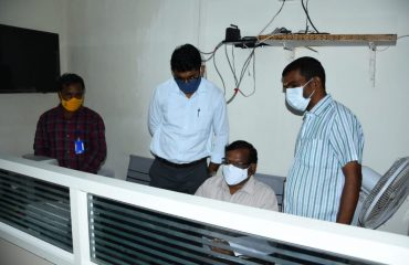 District Collector inspected Dharani Registration works in the Yellareddy Tahsildar's Office.