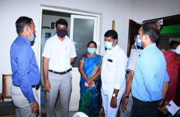 District Collector Visited Pitlam CHC & the Offices in Pitlam Mandal Center.