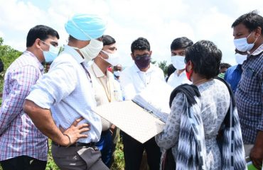 Central Team Members include Charan Jit Singh, Joint Secretary, Ministry of Rural Development and RP Singh, Director, Ministry of Rural Development; inspected Works, Registers and Work files related to Upadhi Hami Works in Villages of Sadashivanagar and Gandhari Mandal Kamareddy District.