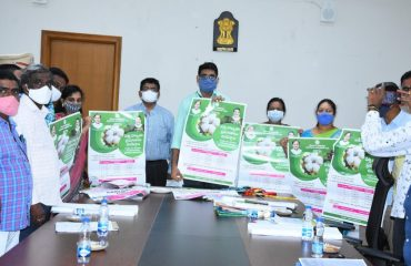 The District Collector held a review meeting on the setting up of cotton purchasing centers