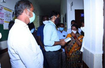 District Collector inspected the Covid Vaccination process carried out by the Medical Staff on a door-to-door basis In Yellareddy Mandal.