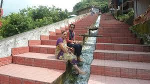 Stairs to Nau Devi Mandir.