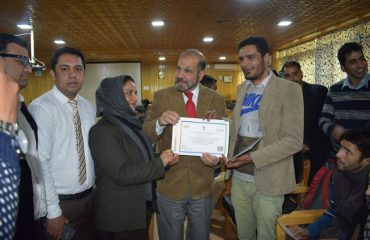 Participants awarded with certificates