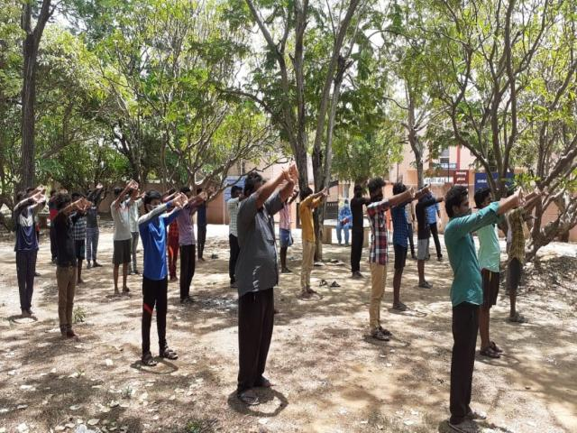 YOGA TRAINING TO FACILITY QUARANTINE PATIENTS