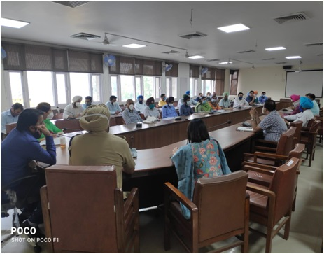 Meeting regarding covid 19 management with officers deployed as special duty magistrates in district faridkot 06.05.2021