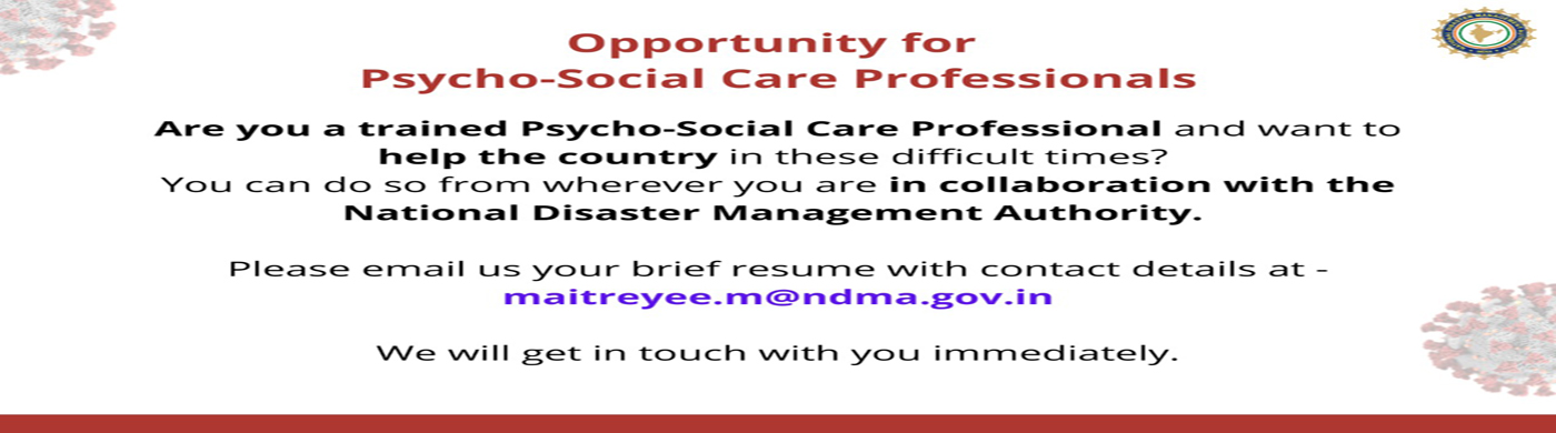 Opportunity for Psycho-Social Care Professional1