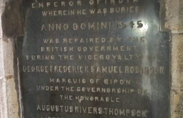 INFORMATION ENGRAVED REGARDING THE TOMB