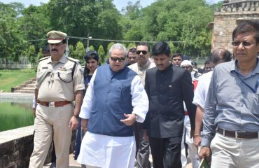 H.E Governor of Bihar with District Magistrate Rohtas