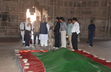 H.E. Governor of Bihar near Sher Shah Suris grave