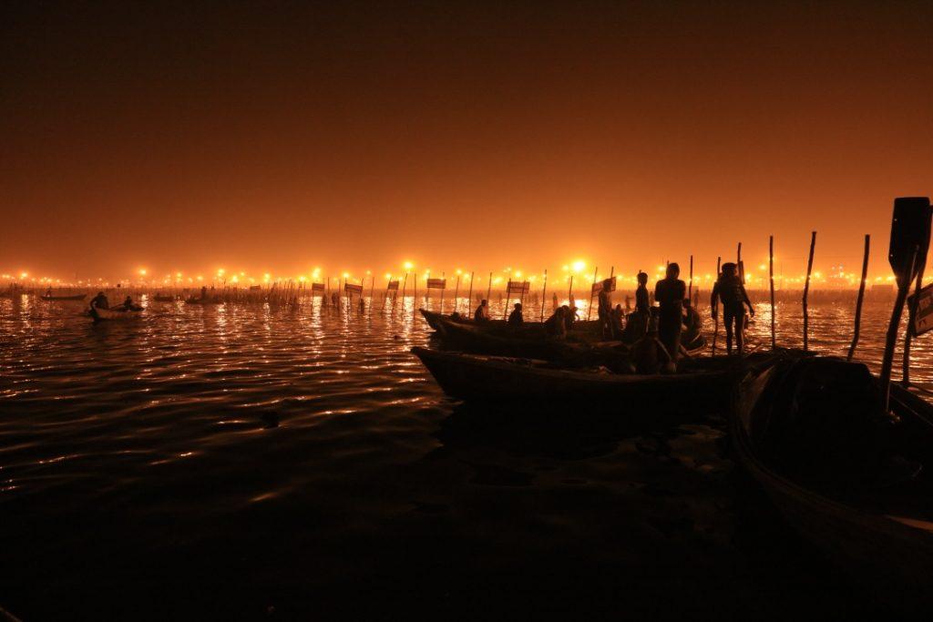 संगम का रात्रि दृश्य