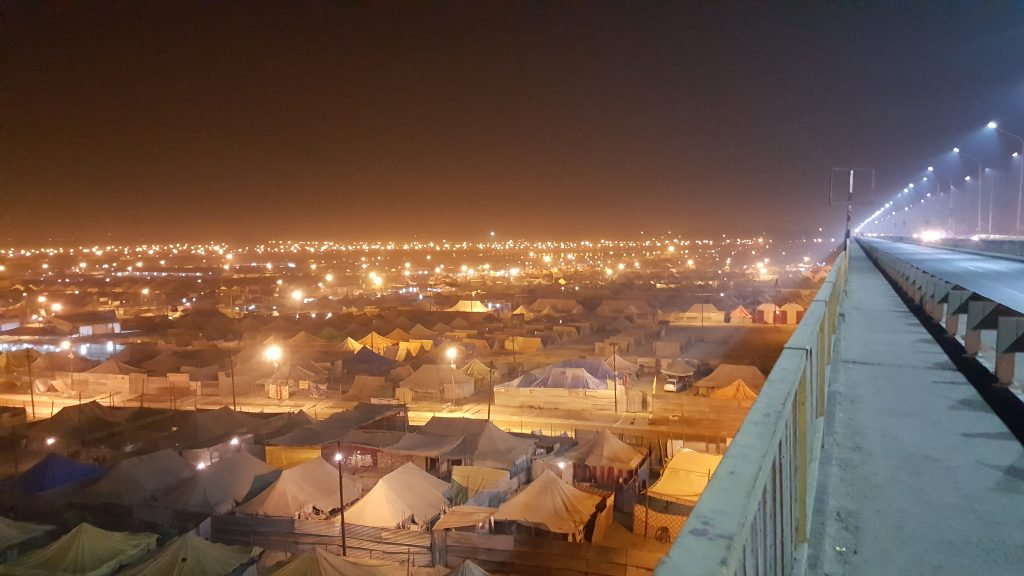 The Night View of the 'Kumbh City'
