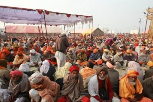 Saints & devotees in Kumbh Mela