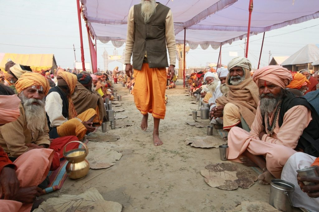 Saints in Magh Mela