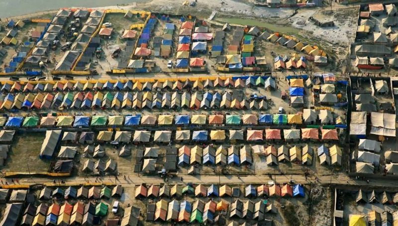 Settlement at Magh Mela