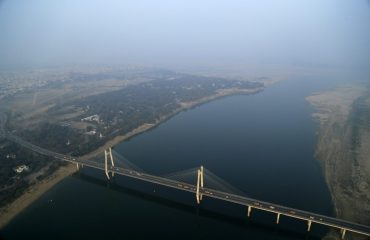 Aerial View of the New Yamuna Bridge