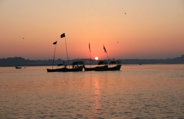The Sunset at River Ganga