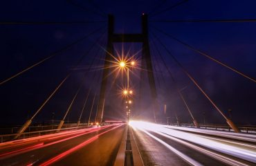 Night View of the New Yamuna Bridge