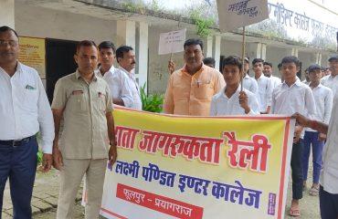 Voters Awareness Rally at Vijay Lakshmi College