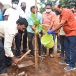 05-11-20 District Collector Attended plantaion at poolbagh vadaveedhi 1