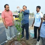 05-03-20 District Collector plantation at Chelluru to Rajapulova High way 6