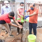 05-11-20 District Collector Attended plantaion at poolbagh vadaveedhi 3