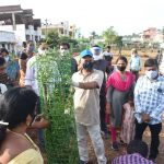16-09-20 District collector Attended Plantaion at Poolbagh municipal park 16