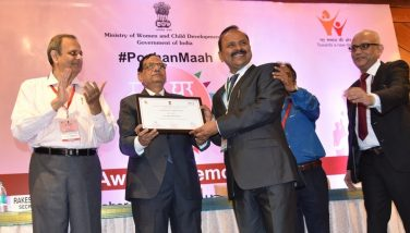 National Award for Vizianagaram on Poshan Abhiyaan Scheme on 10.10.2018