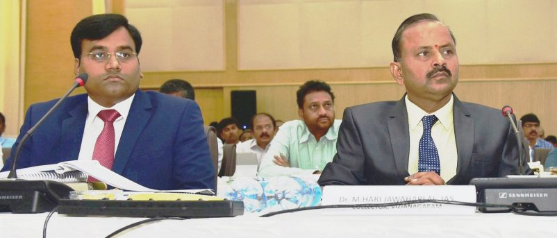 District Collector Attend CM Video Conference at Amaravathi on 25.10.2018