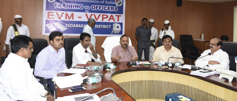 District Collector Launching EVM-VVPAT Training Programme on 15.02.2019