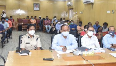 District Collector Attend Honourable Chief Minister Video Conference