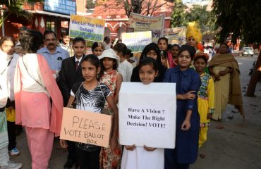 Demonstration by youth on National Voter Day Nagpur