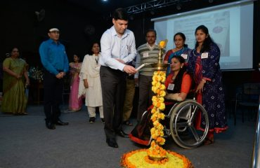Collector Lightening the lamp on National Voter Day Nagpur